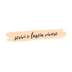 nuovo logo scrivi e lascia vivere colore bianco e rosa